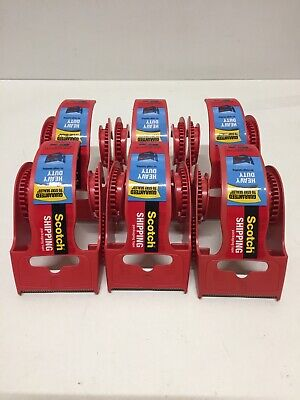 Qty 6 Scotch Heavy Duty Shipping Tape Dispensers 1.88 Dispensers Only