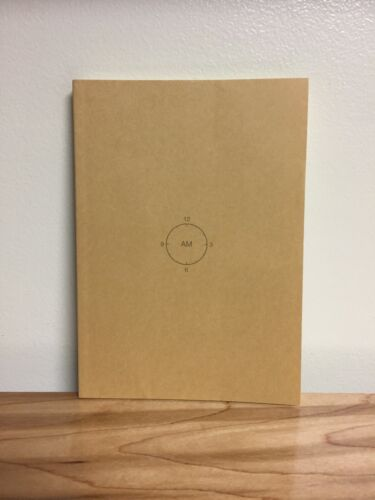 """Clock Planner 4"""" x 6"""" Paperback w/ blank dates VERY GOOD condition made in Japan"""