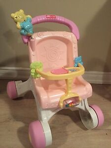 Walker and doll stroller all in one
