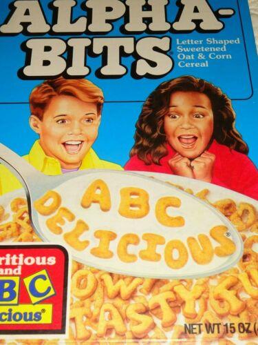 VINTAGE CEREAL BOX Post Alpha-Bits ABC Delicious 1995 Exp.
