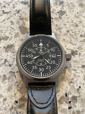 Aeromatic 1912 Beobachter Military Aviator Pilot Flieger Watch A1143