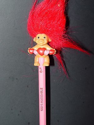 Troll Puppe 3.8cm Russ Bleistift Oberteil Topper Valentinstag / Mutter Tag W /