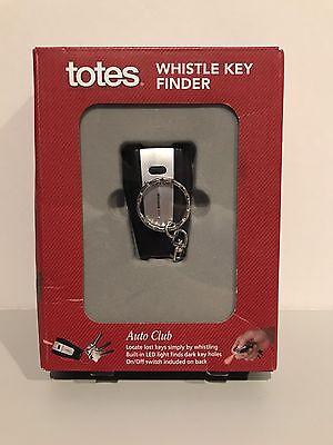 Totes Whistle Key Finder Built-in LED Light KOHLS BATTERIES INCLUDED BRAND NEW!