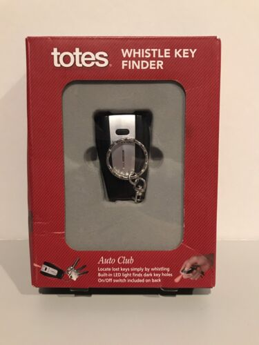 Totes Whistle Key Finder Built-in LED Light KOHLS BATTERIES INCLUDED BRAND NEW!