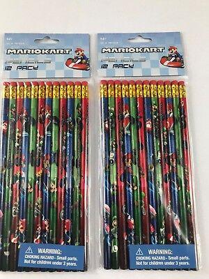 mario kart school pencils- 24 pencils by innovative designs