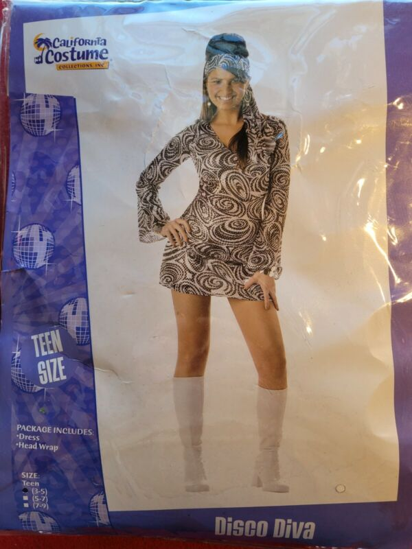 Teen Disco Diva Costume Size 3-5