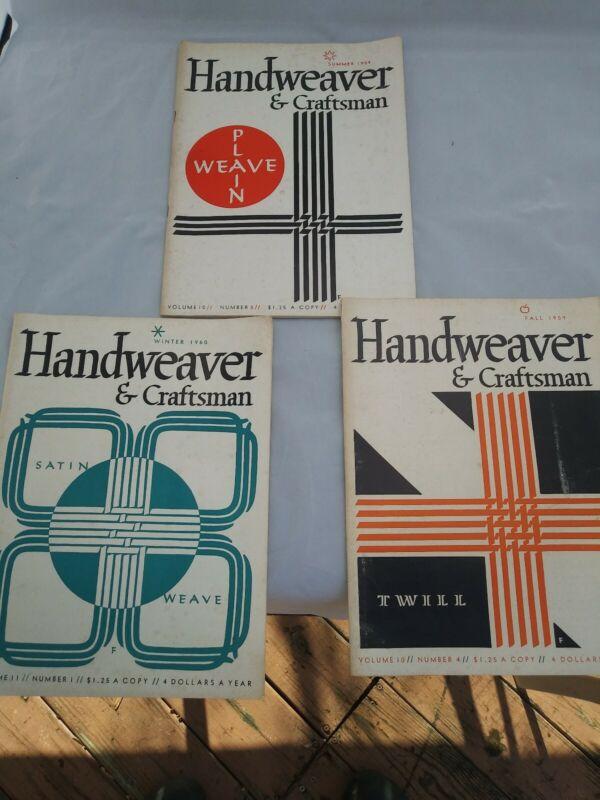 3 HANDWEAVER & CRAFTSMAN MAGAZINE 1959-1960 Summer , Fall+Winter