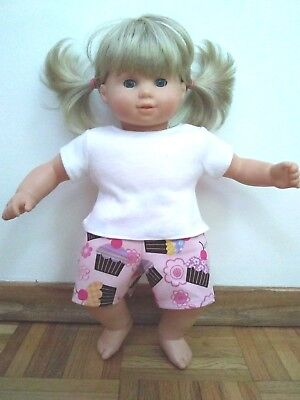 Bitty Baby Twin girl doll clothes Cupcakes jumper set Custom American Girl
