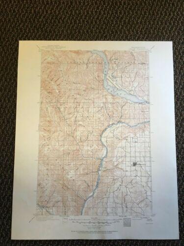 Vintage USGS Chelan Washington 1901 1917 Topographic Map 1950