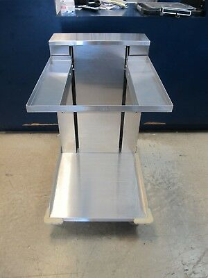 Apw Ctr12-2020 Mobile Cup Glass Dispenser For 20 X 20 Racks All Stainless