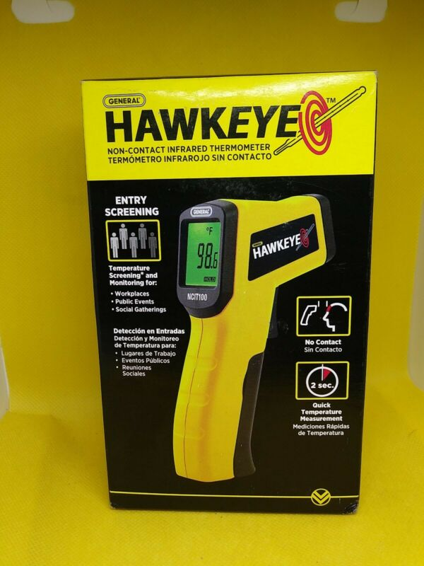 General Hawkeye No Contact LCD Infrared Thermometer NCIT100 Fast Quick Reading