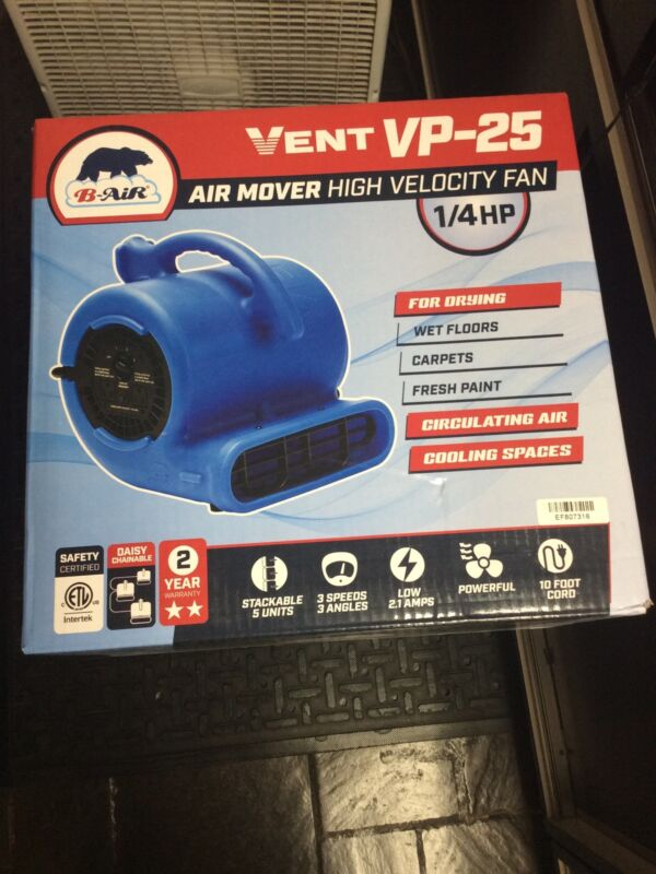 B-Air VP-25 1/4 HP Air Mover for Water Damage Restoration