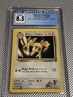 2000 PSA CGC 8.5 Nm/Mint Blaines Dodrio Gym Challenge Mom Holo Pokemon 32/132
