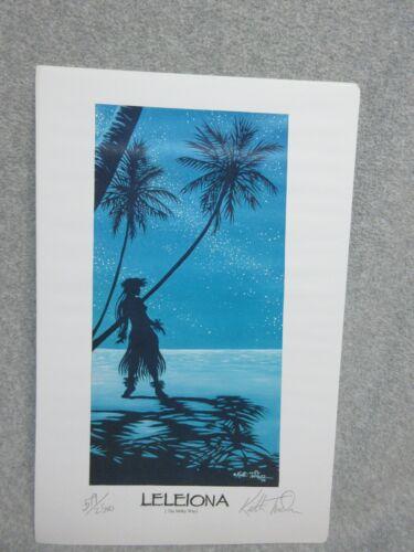 "1995 Hawaiian Girl  LELEIONA Signed Numbered LE 11x17""ART PRINT by KEITH TUCKER"
