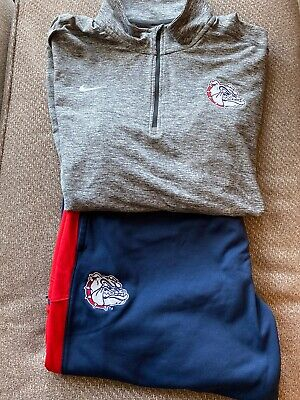 Nike Gonzaga Bulldogs 1/4 Zip Jacket & Pants - Gray, Blue,Red - 2XL Gonzaga Bulldogs Jacket