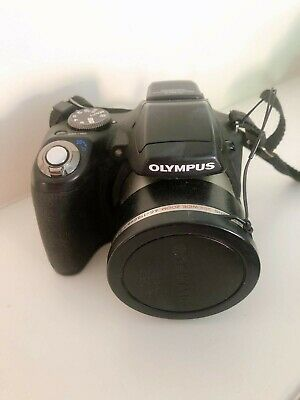 Olympus SP-590UZ Compact Digital Camera (12MP, 26x Wide Optical Zoom) & Case