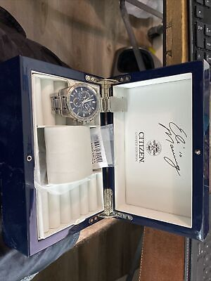 Citizen Eco-Drive 42mm Radio Controlled Limited Edition Eli Manning 241 Of 1000.