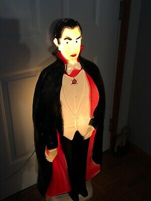 "BELA LUGOSI DRACULA VAMPIRE HALLOWEEN BLOW MOLD ~ DON FEATHERSTONE ~ 42"" TALL"