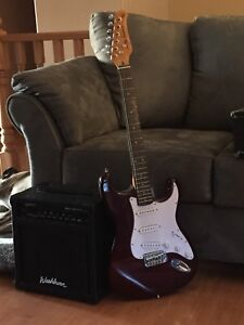 JT electric guitar and amp
