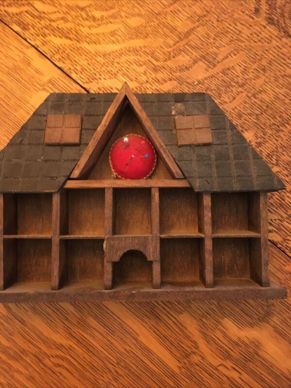 Vintage House Shaped Thimble Holder and Pincushion