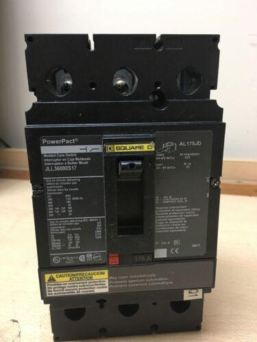 Square D PowerPact AL175JD CAT# JLL36000S17 Circuit Breaker