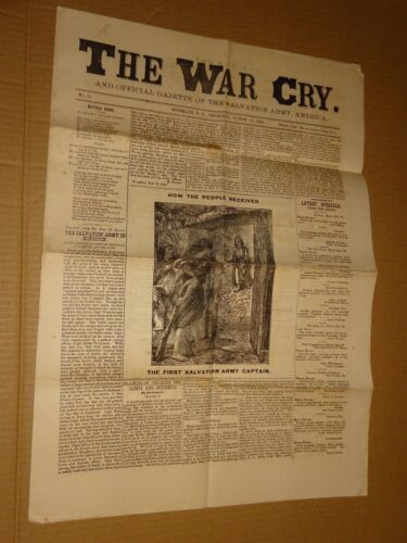 1883 Salvation Army War Cry Newspaper March 22