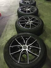 "PDW Poison 15"" 4/100 alloys with 195/50R15 tyres Port Melbourne Port Phillip Preview"