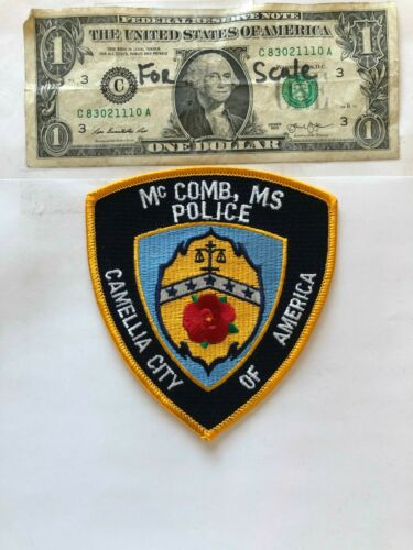 Rarer McComb Mississippi Police Patch Un-sewn great condition
