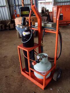 Custom made oxy cutting trolley Propane Gas Acetylene LPG