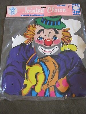 Beistle Halloween Decorations HTF Jointed Clown 52