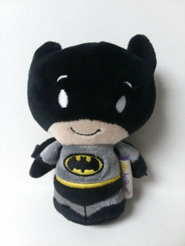 "Hallmark ITTY BITTYS 5"" BATMAN in Black & Grey Plush Toy Stocking Stuffer No Tag"