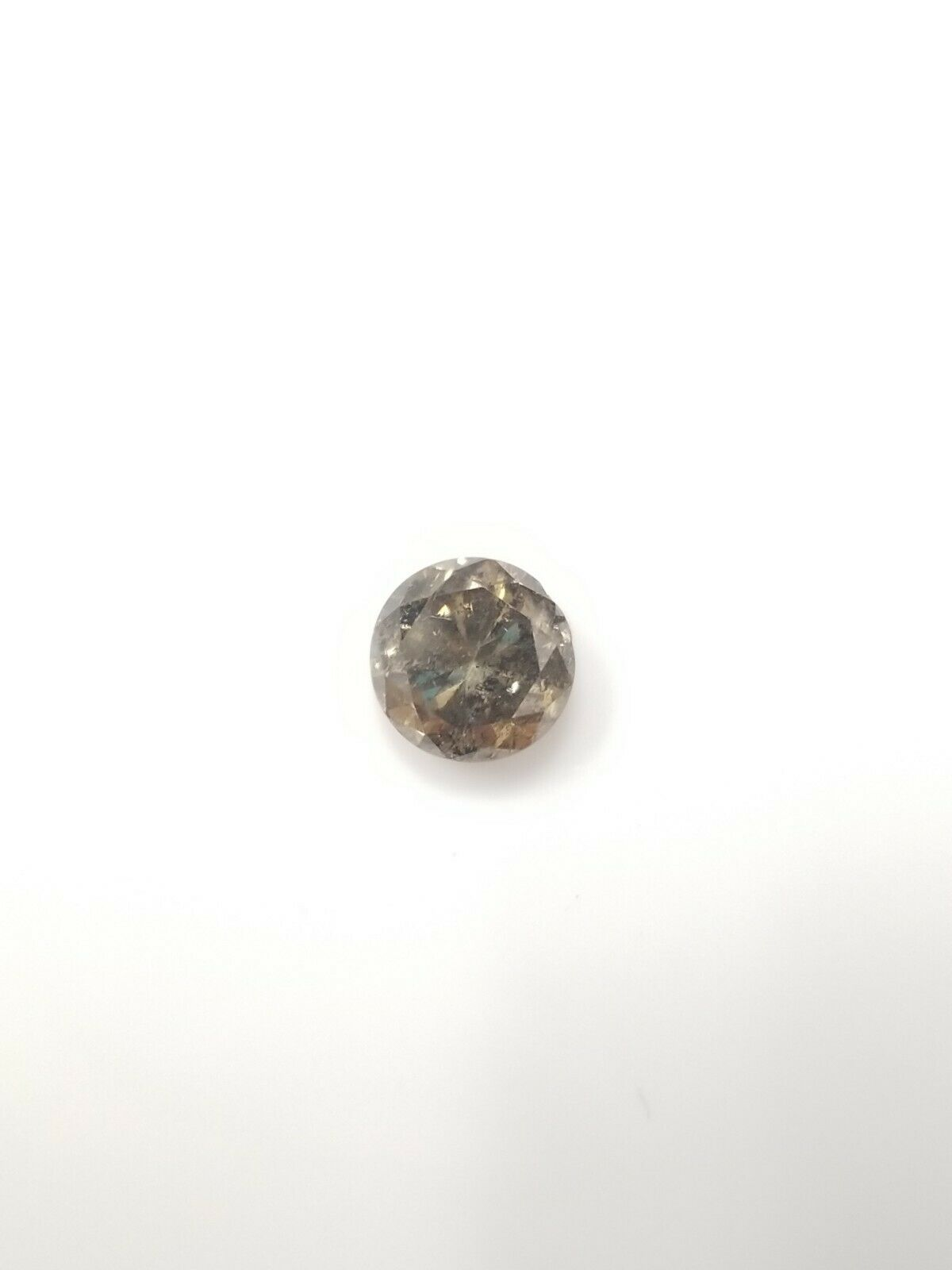 1.13 CT Round Fancy Dark Yellowish Brown Loose Diamond! GIA