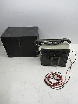 James Biddle Bridge Meg Resistance Tester Megger W Case Rare Vintage Unit