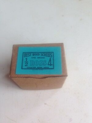 No 4 x 1/2 inch  Wood screws 6 boxes containing 1 gross [144] screws=864 in tota