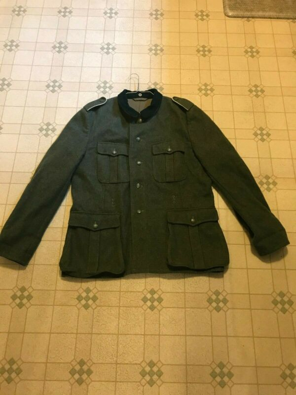 Reproduction German M-36 tunic No Insignia US 48 Chest, Enlisted Shoulder Boards