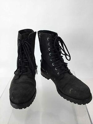 UGG Kilmer II Black Leather Lace-Up Combat Boot 9