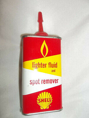 Vintage Shell Lighter Fluid Spot Remover Can Empty SUPER Display Item Shiny