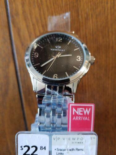 NEW Viewpoint by Timex Men's 43mm Black Dial Watch, Gun Meta