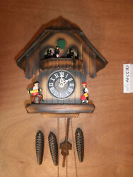 Cuckoo Clock German Black Forest working SEE VIDEO Musical Chalet 1 Day CK2340