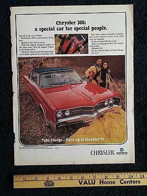 1967 Chrysler 300 Original Life Magazine Print Ad Mopar