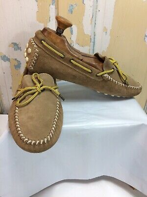 Zara Mens Moccasin Shoes 44 Brown