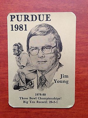 CFB 1981 PURDUE BOILERMAKERS Football Schedule College FB COACH JIM YOUNG