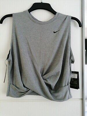 Ladies Nike Grey Dry Fit Vest Top Size XL (16)