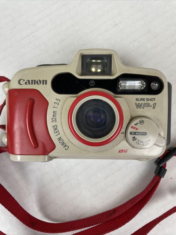 Canon Sure Shot WP-1 32MM Camera 35mm Film Camera Waterproof Parts or Repair