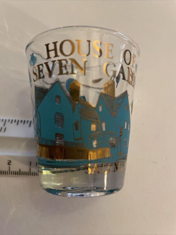 Souvenir Travel Collectible Shot Glass House Of Seven Gables Salem MA
