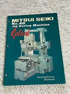 Mitsui Seiki 4b Optical Jig Boring Machine Sales Catalog