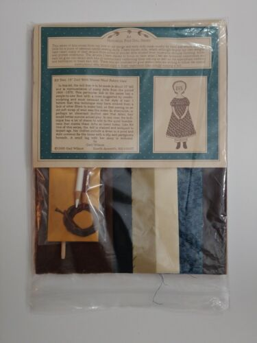 "Gail Wilson Kit #2 15"" Doll with Woven Wool Fabric Hair"