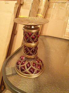 Brass candle holder Roxburgh Park Hume Area Preview