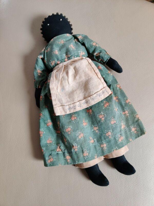 Rebecca - Vintage black cloth doll