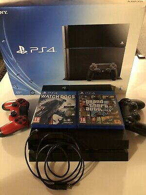 Sony PlaysSation 4 PS4 Jet Black 500 GB + 2 DUALSHOCK + GAMES